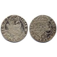 6 грошей (шостак) 1625, Сигизмунд III Ваза, вариант с гербом Пулкозиц. Редкий, R2
