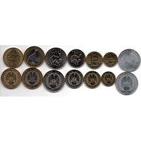 Джибути Набор 7 монет 1991 - 2013 UNC
