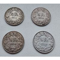 Швейцария 1/2 франка, 1914 7-6-13*16