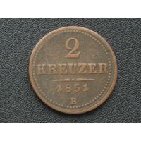 2 крейцера 1851