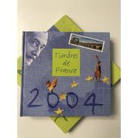 Годовой иллюстрированный альбом для марок Франции 2004 года. Без марок. Все на фото!  С 1 руб!