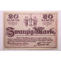 Германия (Verdingen am Rhein), 20 марок 1918 год, - редкая -