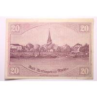 Германия (Verdingen am Rhein), 20 марок 1918 год. - RедкаЯ -
