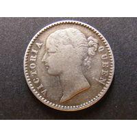1/4 рупии 1840 Британская Индия тип 2