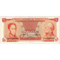 Венесуэла, 5 боливаров 1989 года, С31548746, UNC