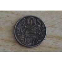 Австрия 2 геллера 1917