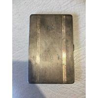 Английский именной серебряный портсигар