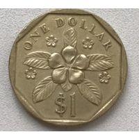 Сингапур 1 доллар 1988 г.