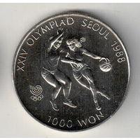 Южная Корея 1000 вон 1986 XXIV летние Олимпийские Игры, Сеул 1988 - Баскетбол