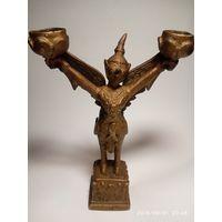 Старинный тибетский Буддизм  Храмовая бронзовая фигурка крылатый Гаруда.
