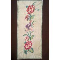Салфетка дорожка вышивка цветы