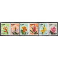 Куба Садовые цветы 1974 год полная гашеная серия из 6-ти марок