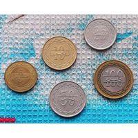 Королевство Бахрейн набор монет 5, 10, 25, 50, 100 филсов. Пальма.