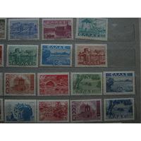 Марки - Архитектура Древней Греции Серия MNH - 18 марок