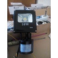 Прожектор с датчиком движения,таймером,освещенности,10 ватт
