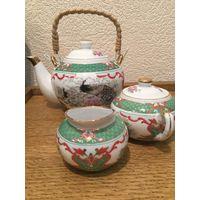 Чайный сервиз Павлин (3 предмета)