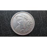 Гватемала 25 сентаво 1950 ( серебро )