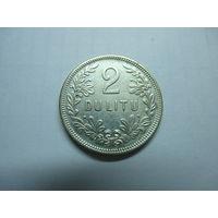 Литва. 2 лита  1925 года. ОРИГИНАЛ.
