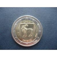2 евро Латвия 2018 Земгале
