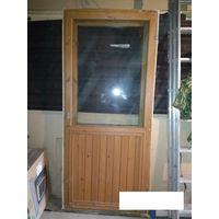 Двойная дверь со стеклом. 850*1900