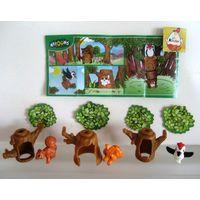 Серия игрушек из киндера дерево
