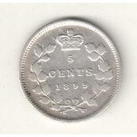 Канада 5 цент 1899