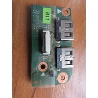 TOSHIBA L750 L750D L755 L755D модуль usb DA0BL6TB6F0