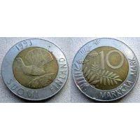 Финляндия 10 марок 1993г.