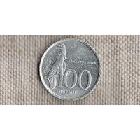 Индонезия 100 рупий 1999/фауна/папугай/(NS)