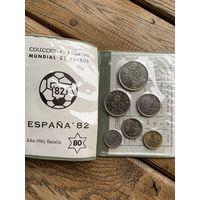 Набор монет. ИСПАНИЯ -1982 год, 6 монет!