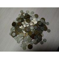 Кучка монет 5_10_15 копеек 1961_1991