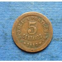 Португалия 5 центаво (сентаво) 1927