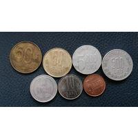 Румыния. 7 разных монет одним лотом. Большая распродажа коллекции