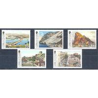 Гибралтар 2009 Виды Гибралтара. Архитектура, 5 марок