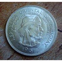 Уругвай. 10 песо 1961 г. Гаучер.
