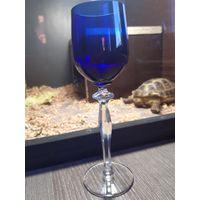 Бокал синее стекло