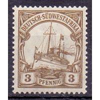 Германия Юго-Западная Африка Wz1 3 пф 1906 г