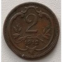 Австрия 2 геллер 1912