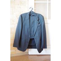 Деловой костюм - Брюки и пиджак, шерсть, размер L, офисный костюм джентльмена.