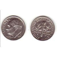 США 10 центов 1999г P.