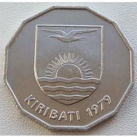 """Кирибати. 1 доллар 1979 год  KM#7  """"Аутригер-каноэ""""  Тираж: 20.000"""