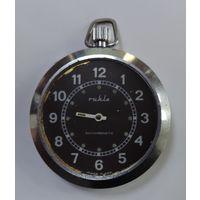 """Часы карманные """"Ruhla"""" ГДР. Диаметр 4.6 см. Не исправные."""