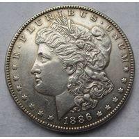 США, доллар, 1886, серебро