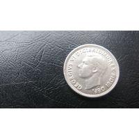 Австралия 3 пенса 1952 ( серебро)