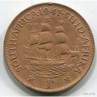 Южная Африка, 1 пенни 1941