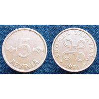 W: Финляндия 5 пенни 1971 (15)