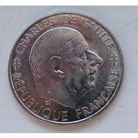 Франция 1 франк, 1988 30 лет Пятой Республике 4-14-15
