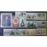 ФРАНЦИЯ\135-1\набор марок 12шт  MNH