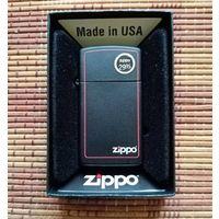 Зажигалка ZIPPO Black Matte бензин новая + кремни