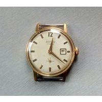 """Часы мужские наручные """"Восток"""" ,17 камней,с календарем, противоударные,позолота 10 мкм, пылезащитные,Сделано в СССР"""